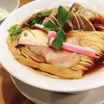 むぎとオリーブ - 料理写真:蛤・鶏•煮干しのトリプルSOBA