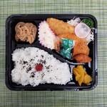 みずも - 4/20(火) A. ミックスフライ弁当(白身魚・コロッケ・から揚げ)(スープ付き)