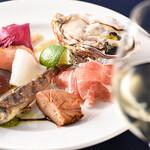 アウラ クチーナ イタリアーナ - 前菜とワイン