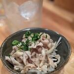 鶏や 梅の湯 - 親どり皮湯引きポン酢