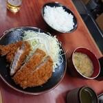 Tonkatsukaya - ロースカツ定食1,350円 202104