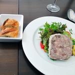 14995393 - 選べる前菜,NOTE特製そ,鶏砂肝のパテドカンパーニュ