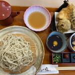 日本そば 蕎乃道 - 料理写真:天ざるランチ 1100円
