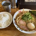 麺屋 庄太 - らぁ麺 煮玉子 ライス
