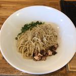中華蕎麦 はざま - マストの鶏油玉