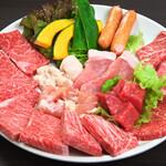 文八 - 料理写真:和牛中皿盛(約お2人用)お肉400g