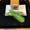 川畑 - 料理写真:稚鮎オイル漬けと蓬豆腐