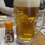 餃子製作所 酔処 土竜 - キリン一番搾り樽詰生ビール(メガ) 1,000円