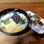 泉屋 - 玉子とじうどん、あなご押し寿司