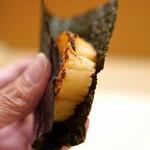 日本橋蛎殻町 すぎた - 帆立の磯辺巻