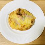 ブランジュリ P&B - ほうれん草とベーコンのフォカッチャ。モチモチとしたじゃが芋入りの生地が美味しい♡