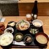 わしょくや 九段下 - 料理写真:おばんざいランチ(あこう鯛となすの揚出し)900円、瓶ビール600円