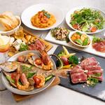 カフェバーファシル - 宮城県産短角牛のローストor魚介たっぷりアクアパッツア 選べる大満足コース