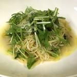ハーツ - ランチ1例       しらすと水菜のペペロンチーノスパゲティ