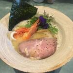 麺屋 轍 - 料理写真: 淡麗エビ塩トリュフラーメン(1,000円)、おしゃれな丼だけど食べにくい!