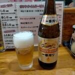 らーめん桃源 - 瓶ビール中450円税込、これぐらいの値段だと嬉しい