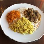 カレーレストラン ヘラディワ - 料理写真:まんぞくプレート マトン