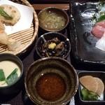 15003723 - 天ぷらとお刺身定食