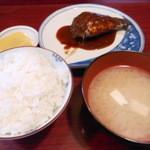 菜の花 - 日替わり さば味噌定食 480円