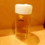 くいものや呂久 - 生ビール 450円