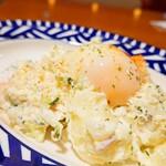 150056382 - 5種類の野菜のポテトサラダ 半熟玉子のせ
