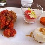 EDEN - さつまいものコロッケ、トマトのマリネ、人参のコンフィ、里芋