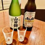 ももんじや - ◎ビールと日本酒。