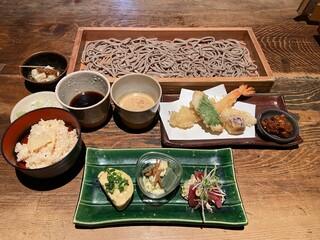 板蕎麦 山灯香 - 週末ランチセット