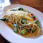 ゴリゾー - おくらとしらすのスパゲティ