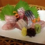 かず味家 - しめ鯖と鰹刺身