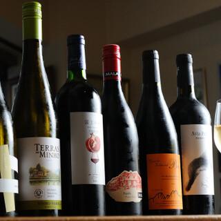 専属のソムリエが選ぶおすすめのワインをご用意しております