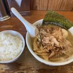 麺や 阿闍梨 - 料理写真:煮玉子一番だし醤油ラーメン ライス