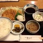酒房長谷川 - 日替わり:豚ロースのおろしカツ(800円)