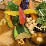 Rojiura Curry SAMURAI. - 野菜はごぼう・ブロッコリー・木耳・ズッキーニ・キャベツ・水菜・パプリカ・かぼちゃ・茄子・ピーマン・さつまいも・大豆の13種