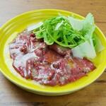 ナチュラルボロネーゼスタンド - 馬肉のカルパッチョ