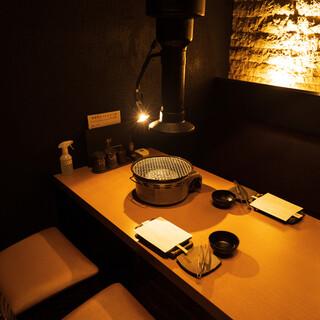 【銀座で焼肉♪】換気がしっかりした個室をご用意しております