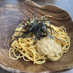 トウキョウ スパゲティ イブサントコ - タラコとウニと納豆 1,350円