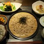 桜ヶ丘 - せいろそばとミニ釜揚げしらす丼 サラダと小鉢ひと品