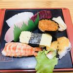 寿司の丸安 - 料理写真:寿司定食(竹)A 寿司 1100円