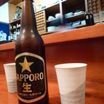 ふる里 - 【H24.9.26】先ずはサッポロ瓶ビールから。