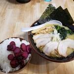 麺や 笑味寿 - 料理写真:塩ラーメン+チャーシュー2枚+ライス2021.04.23