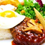 kawara CAFE&DINING - 濃厚BBQソースのロコモコ目玉焼きのせ(\850)