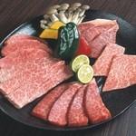 しちりん屋西院厨房 - その日一番のおすすめ部位が集結「おまかせ和牛の盛り合わせ 」¥3,680