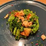 ウルトラチョップ - 菜の花ときんかん、くるみのサラダ