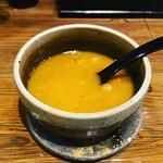 つけ麺処つぼや - スープ割り