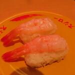 スシロー - 2021年の「甘えび」110円