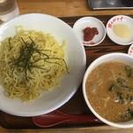 めん王  - みそつけ麺750円+税、大盛50円+税(2021.2.6)