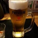 天ぷら さいとう - 生ビール