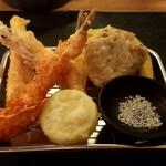 天ぷら さいとう - 天ぷらさいとう 金の盛り合わせ:1,100円