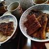 満福 - 料理写真:上丼とミニ丼の比較